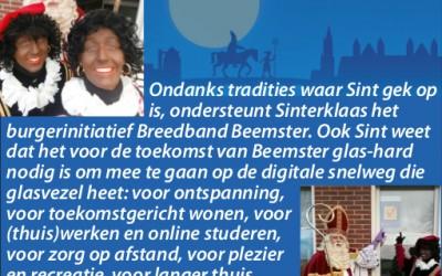 Ook Sint ondersteunt Breedband!