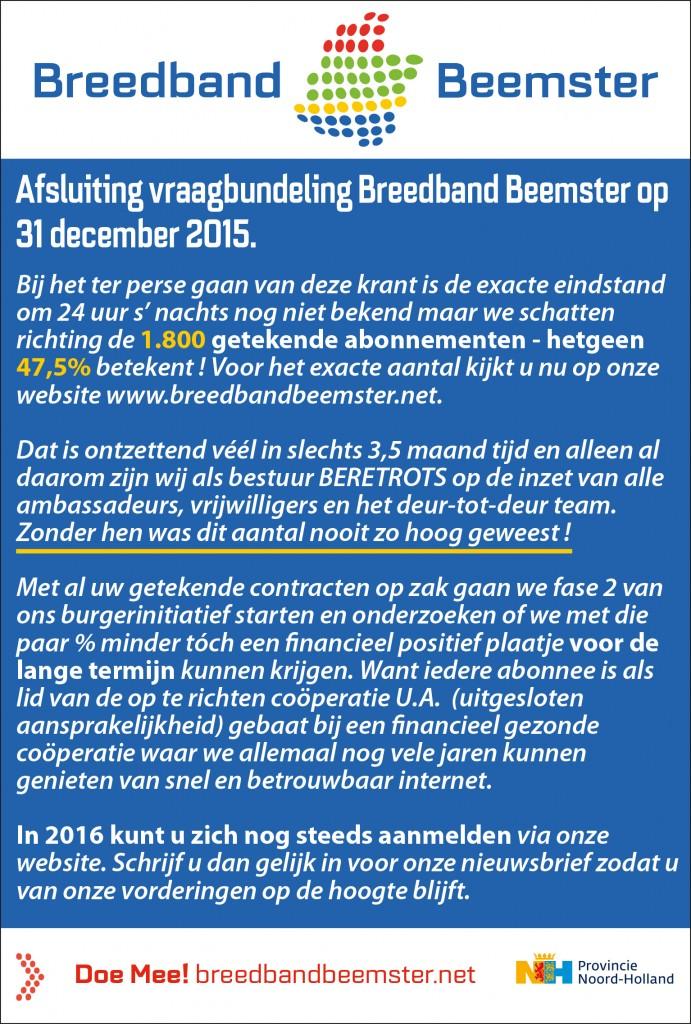 advertentie Breedbandbeemster FAQ 27